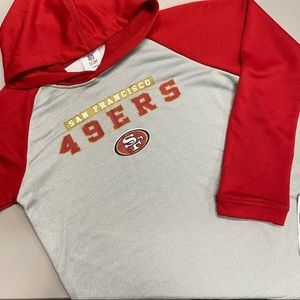San Francisco 49ers Hoodie NFL Football Gray Red